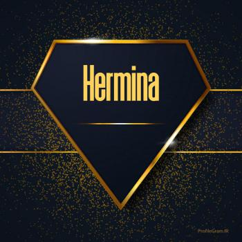 عکس پروفایل اسم انگلیسی هرمینا طلایی Hermina