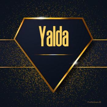 عکس پروفایل اسم انگلیسی یلدا طلایی Yalda