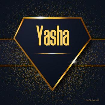 عکس پروفایل اسم انگلیسی یاشا طلایی Yasha