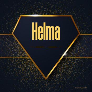عکس پروفایل اسم انگلیسی هلما طلایی Helma