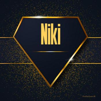 عکس پروفایل اسم انگلیسی نیکی طلایی Niki