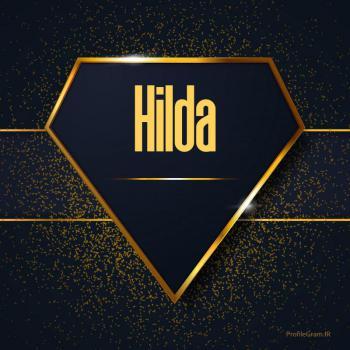 عکس پروفایل اسم انگلیسی هیلدا طلایی Hilda