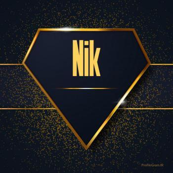عکس پروفایل اسم انگلیسی نیک طلایی Nik
