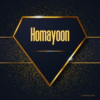 عکس پروفایل اسم انگلیسی همایون طلایی Homayoon