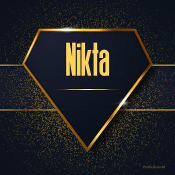 عکس پروفایل اسم انگلیسی نیکتا طلایی Nikta