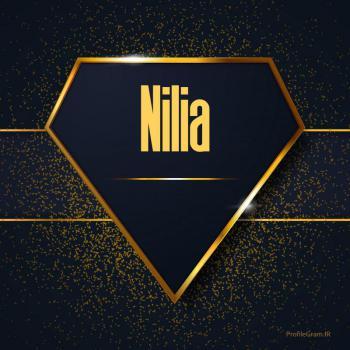 عکس پروفایل اسم انگلیسی نیلیا طلایی Nilia