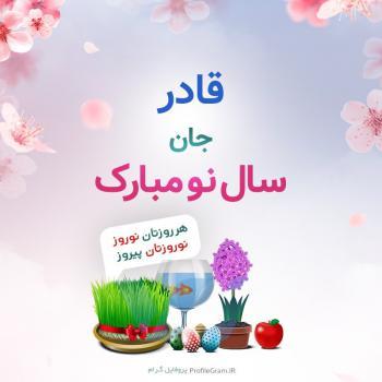 عکس پروفایل قادر جان سال نو مبارک