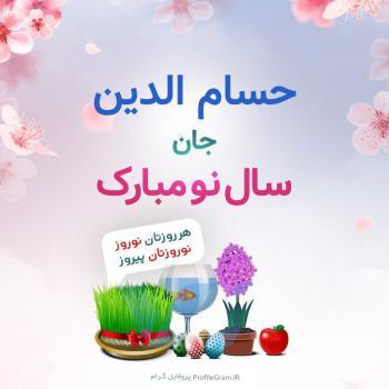 عکس پروفایل حسام الدین جان سال نو مبارک