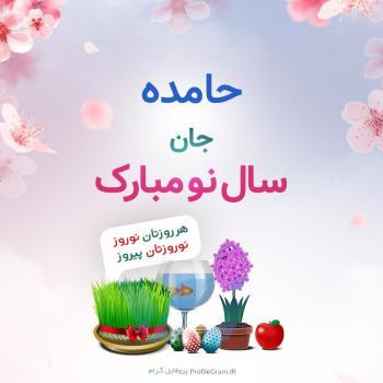 عکس پروفایل حامده جان سال نو مبارک