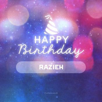 عکس پروفایل تولدت مبارک راضیه انگلیسی