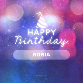 عکس پروفایل تولدت مبارک رونیا انگلیسی