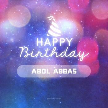 عکس پروفایل تولدت مبارک ابوالعباس انگلیسی