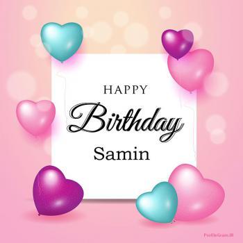 عکس پروفایل تبریک تولد عاشقانه اسم سمین به انگلیسی