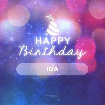 عکس پروفایل تولدت مبارک ایدا انگلیسی