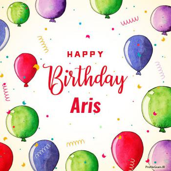 عکس پروفایل تبریک تولد اسم آریس به انگلیسی Aris