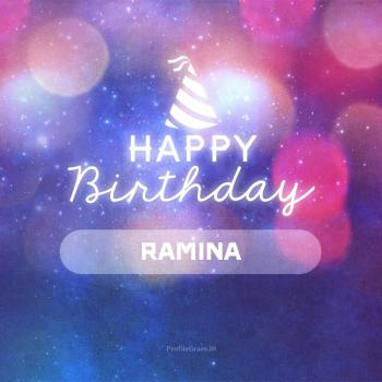 عکس پروفایل تولدت مبارک رامینا انگلیسی