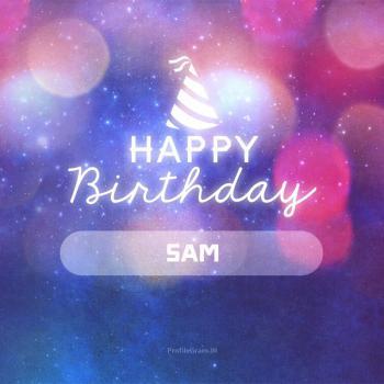 عکس پروفایل تولدت مبارک سام انگلیسی
