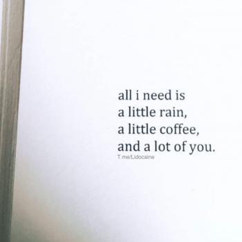 عکس پروفایل کمی باران کمی قهوه و یک عالمه تو