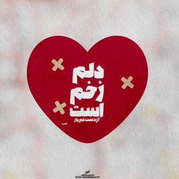 عکس پروفایل شهریار دلم زخم است از دست غم یار