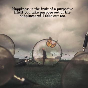 عکس پروفایل خوشبختی میوه یه زندگی هدفمنده