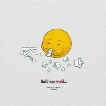 عکس پروفایل انگلیسی دنیای خودتو بساز