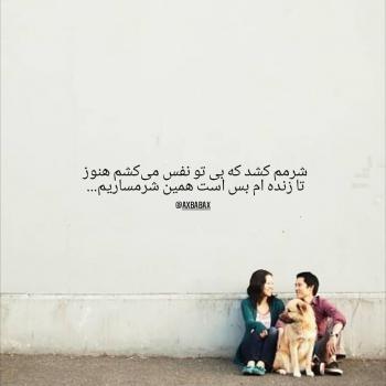 عکس پروفایل شرمم کشد که بی تو نفس می کشم