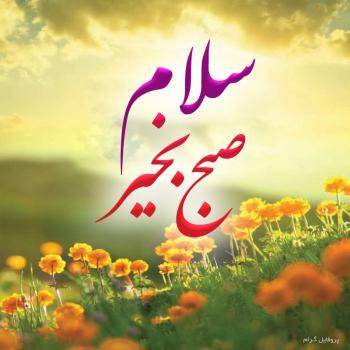 عکس پروفایل سلام صبح بخیر با گل های بهاری