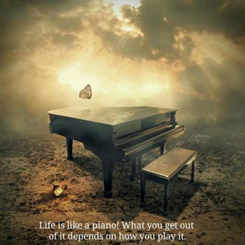 عکس پروفایل انگلیسی زندگی مثل یه پیانوئه