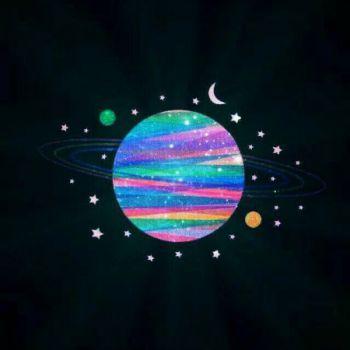 عکس پروفایل کهکشان فانتزی رنگارنگ
