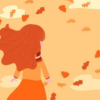 عکس پروفایل دختر منتظر تنها در پاییز