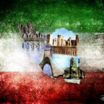 عکس پروفایل پرچم سه رنگ با نقشه ای ایران