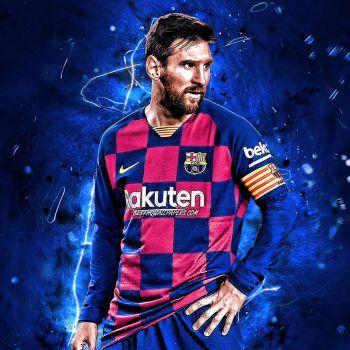 عکس پروفایل فوتبالی لیونل مسی با لباس بارسلونا