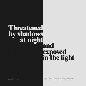 عکس پروفایل شب سایه ها تهدیدت می کنند و در روز بی پناهی