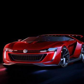 عکس پروفایل ماشینی فولکس واگن کانسپت قرمز مسابقه ای
