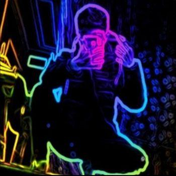 عکس پروفایل پسرانه خفن نئونی رنگارنگ