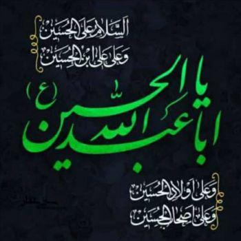 عکس پروفایل یا ابا عبدالله الحسین سبز و مشکی