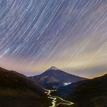 عکس پروفایل طبیعت زیبا و آسمان ستاره ای در شب