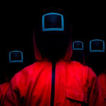 عکس پروفایل بازی مرکب Squid Game قرمز مربع