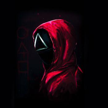 عکس پروفایل بازی مرکب Squid Game قرمزمثلث