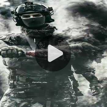 فیلم پروفایل نظامی با ماسک و منور