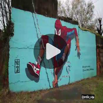 فیلم پروفایل نقاشی دیواری اسپایدرمن