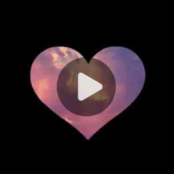 فیلم پروفایل قلب فانتزی رنگی زیبا عاشقانه