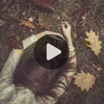 فیلم پروفایل دختر غمگین پاییزی تنها